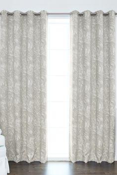 Marble Swirl Printed Room Darkening Grommet Top Curtains - Set of 2 Panels - Grey by Best Home Fashion Inc. on @HauteLook