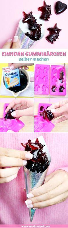 Einhorn Gummibärchen selber machen: Super einfaches Rezept! Sind diese selbstgemachten Einhorn Gummibärchen nicht der Hammer? Ich hätte wirklich NIE gedacht, dass man Gummibärchen so einfach selber machen kann… aber seht selbst: Es funktioniert!