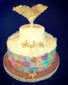 Mermaid themed Baby Shower Cake