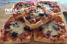 Çıtır Milföy Pizza Tarifi