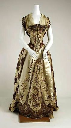 1887–89. French designed silk dress.