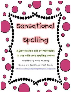 A Huge Giveaway (Win my Spelling Packet!)
