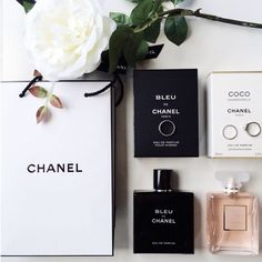 Chanel beauty products #classyblog #chanel #perfume #fragrance #beauty #beautyproducts #white #black