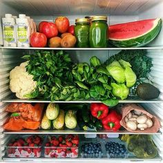 Refrigerator goals. Grains in the pantry and chickens in the backyard for eggs and I'm set. :-)