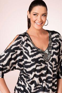 c59c4861711 Plus Size Women s Fashion - Sara Animal Print Top - EziBuy Australia  Clothes For Women