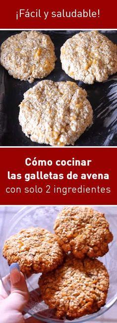Cómo cocinar las galletas de avena con solo 2 ingredientes. ¡Fácil y saludable! | https://lomejordelaweb.es/ Pinterest ^^ | https://pinterest.com/Ilovecocin