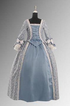 Blue Baroque Renaissance Ball Gown
