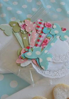 butterfly gift bag ties