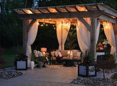 You can learn how to build a pergola with these tutorials! So start planning, and set aside a weekend to build a DIY pergola for your garden! Gazebo, Backyard Pergola, Outdoor Pergola, String Lights Outdoor, Outdoor Lighting, Pergola Lighting, Utah, Outdoor Rooms, Outdoor Decor