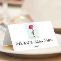 Beauty And The Beast Place Cards Rose Wedding By Wedsclusive