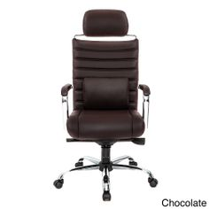 4 Series Chocolate High Back Chair | Overstock.com  http://www.overstock.com/Office-Supplies/4-Series-High-Back-Chair/7683500/product.html?refccid=PRADA5IUA4Q2HR2AKVVUEPJZQI&searchidx=3