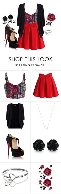 """Untitled #66"" by kittio ❤ liked on Polyvore featuring Chicwish, Phase Eight, Tiffany & Co. and Christian Louboutin"
