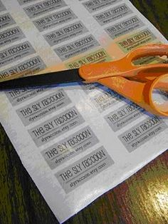 Print your own sew in labels