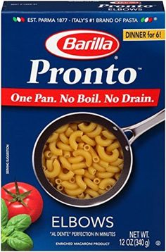 Barilla Pronto Pasta, Elbows, 12 Ounce (Pack of 8) by Barilla -- Awesome products selected by Anna Churchill