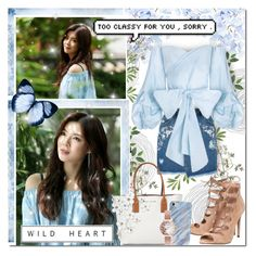 """""""Sky Blue Surrounded By Nature"""" by angelstylee ❤ liked on Polyvore featuring WALL, Office, Miss Selfridge, Marc Jacobs and Olivia Burton"""