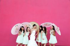 LOVE this wedding by Bandele Zuberi | International Wedding Photographer | Destination Weddings #weddingumbrellas #shortbridesmaidsdresses #asianbride