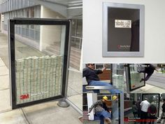 3M Security Glass Bus Stop Advertisement- Unbreakable??is that true? PROVE:They even asked people to kick the glass. I wonder is it bullet-proof as well?