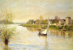 """アルジャントゥイユのセーヌ河"""" 1872年 アルフレッド・シスレー"""