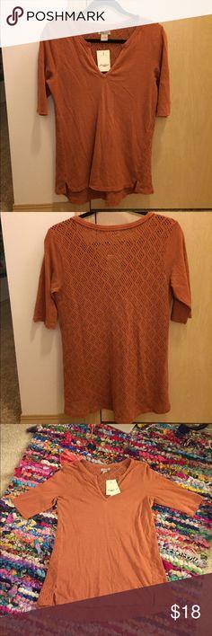 Lucky Brand NWT half sleeve shirt Never been worn, burnt-orange Lucky Brand Tops