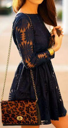 Navy Sunflower Dress ♥