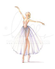 Dancer Study 3 Print by HNIllustration on Etsy Dancer Study 3 (Fashion Illustration Print) Ballet Drawings, Dancing Drawings, Ballerina Art, Ballet Art, Drawing Sketches, Art Drawings, Ballet Painting, Illustration, Fashion Sketches