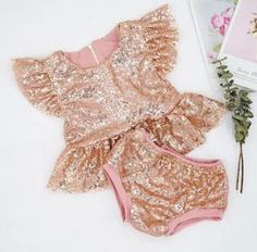 BEST SELLER - Marilyn Rose Gold Sequin 2 Pc Birthday Set – Ruffles Baby Girl First Birthday, First Birthday Outfits, Pink Birthday, Rose Gold Sequin Top, Gold Sequins, Ruffles, Tutu, Cake Smash Outfit, Fall Fashion 2016