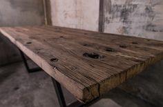 Antike Bahnschwellen Massivholz Altholz Bauholz Tischplatte Unikatplatte