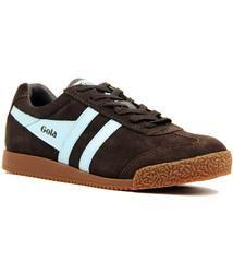 Men/'s Shoes Gola Harrier Brown//Blue Sneakers Man Brown//Blue