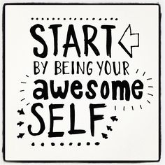 Be your awesom self! #lettering #typography #handlettering #paperfuel