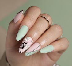 Gel Manicure Designs, Nail Art Designs, Nail Drawing, Peach Nails, 3d Painting, Flower Nails, Press On Nails, Gel Polish, Nail Colors