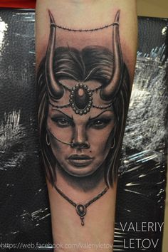 demon girl tattoo by ValeriyLetov