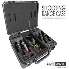 Shooting Range Handgun Case - The perfect gift for the gun aficionado in your… Weapon Storage, Gun Storage, Airsoft, Arsenal, Gun Cases, Cool Guns, Guns And Ammo, Concealed Carry, Target Practice