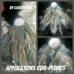 Retrouvez cet article dans ma boutique Etsy https://www.etsy.com/fr/listing/480197376/applications-cuir-plumes-de-coq-grizzly