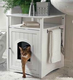 lettiera gatto nascosta in mobile