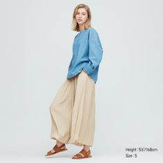 WOMEN WASHER SATIN PANTS, NATURAL Flowy Pants, Pleated Pants, Skirt Pants, Wide Leg Trousers, Trousers Women, Pants For Women, Satin Material, Satin Skirt, Chic