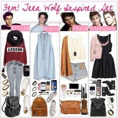 femstiles outfit | Scott And Isaac Tumblr Stiles, scott, isaac, ethan.
