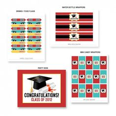 The whole collection of free graduations party printables