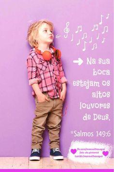 Na sua boca estejam os altos louvores de Deus Salmos 149:6 #salmos…