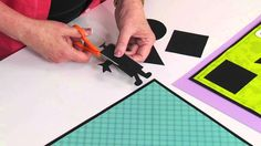 Video: Students will have a ball using these new die-cuts to design their very own shapesters while studying squares, circles, rectangles and triangles.