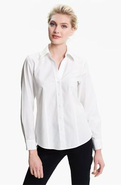 I need a new basic white button-down shirt for my wardrobe. This one might fit the bill: Foxcroft Fitted Shirt   Nordstrom