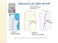 Diferencia en los talles grande.Tema 143