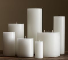 PB Pillar Candle - White | Pottery Barn