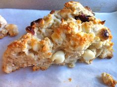 White Chocolate Cranberry Scones -- a delicious whole-grain recipe with a gluten-free option