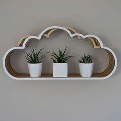 Wooden Cloud Shelf Unit