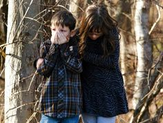 Young children wait outside Sandy Hook Elementary School after a shooting in Newtown, Connecticut, December 14, 2012. A shooter opened fire at the elementary school in Newtown, Connecticut, on Friday, killing several people including children, the Hartford Courant newspaper reported. #tragedy