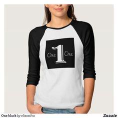 One black camisetas