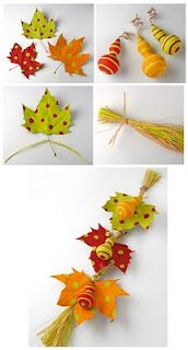 all kinds of interesting crafts and art for autumn