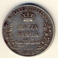 Italian Somaliland 1915 R half Rupia XF