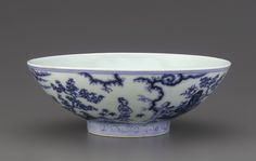 Blue-and-White Bowl, Xuande mark and period (1426 – 1436), Ming dynasty (1368 – 1644)