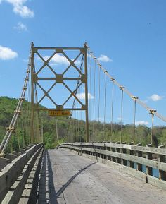 2. The Little Golden Gate Bridge, Beaver, AR Located on  the most western tip of Table Rock Lake where it meets the beautiful White River, the bridge is the last swinging bridge in AR still open to vehicular traffic.